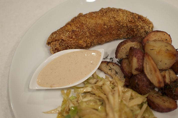 Cheat for Cornmeal fried fish