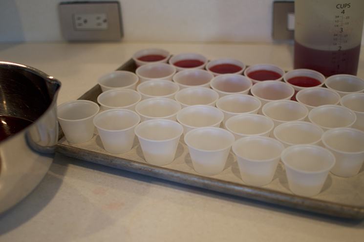 cran orange jello shots