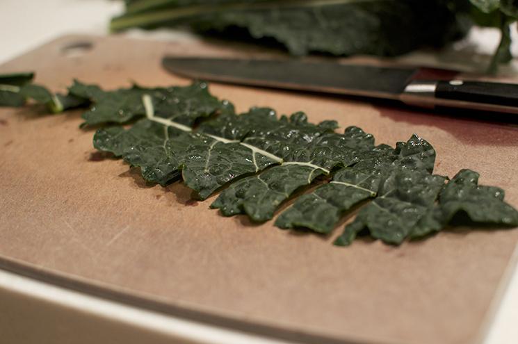 slice kale