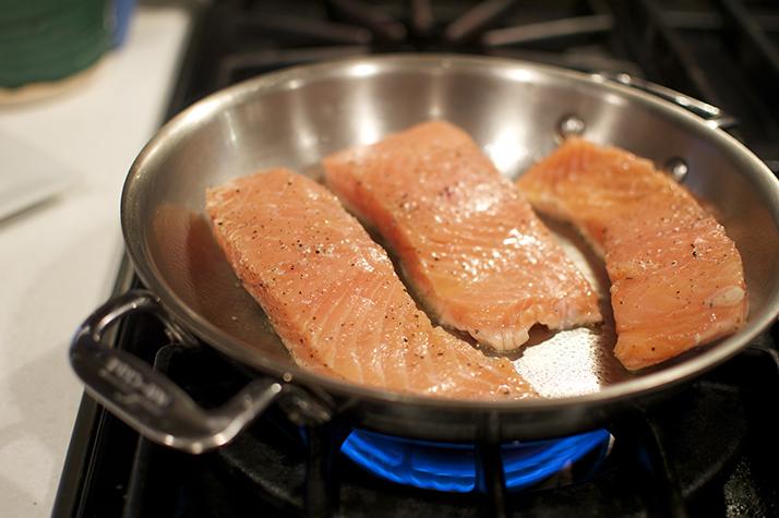 salmon sear