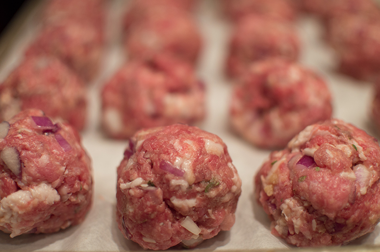 meatballs in the raw